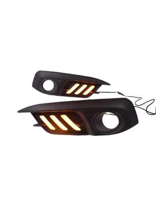 Honda Civic 2017 Fog Lamp Cover With LED DRL (3 Color)
