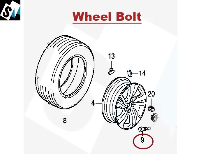 Genuine Wheel Bolt For Honda Civic & City