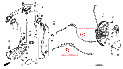Door Cable Honda Civic 2009