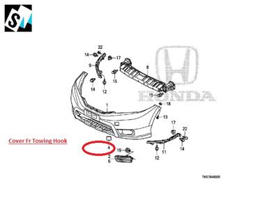 Cover FR Towing Hook Honda Civic 2020