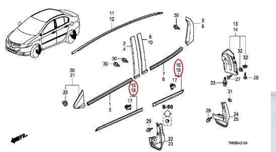 Honda City 2020 Genuine Door Protector Moulding